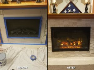 Plumber for Gas to Electric Fireplace.