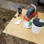 Plumbing for drain pipe cleaning and inspection.