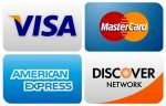 Plumbing contractor takes Visa/Mastercard/Discover/American Express.